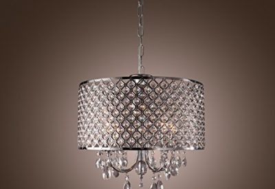 Drum pendant lighting fixtures lightinthebox modern drum chandeliers with 4 lights pendant light with crystal drops in round ceiling light fixture for dining roombedroom living room aloadofball Gallery